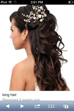 Wedding half up half down hairstyle