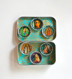 Virgin of Guadalupe Magnet Set Our Lady by calaverasYcorazones