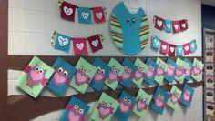 Owl love you always Valentine's Day Bulletin board Second grade hallway Valentine Crafts, Holiday Crafts, Holiday Decor, Valentines Day Bulletin Board, Winter Bulletin Boards, Resident Assistant, Classroom Door, Classroom Ideas, Board Ideas