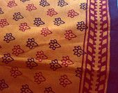 Bagh Print Block Cotton Fabric Print Indian  Vegetable Dyes