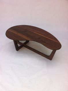 """50"""" Kidney Bean Cocktail Table - Mid Century Modern Coffee Table - Solid Walnut - Atomic Era Biomorphic Boomerang Adrian Pearsall Inspired"""