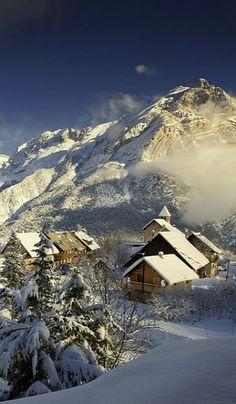 snowy Cote d'Azur, France!