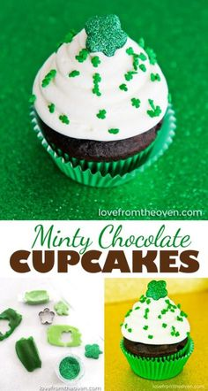 Just in time for St. Patrick's Day we bring you Minty Chocolate Cupcakes - simply yummy, and adorable as well!