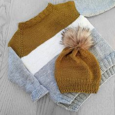 #jubelgenser Ikke værst å få en genser og lue ut av restegarn Er egentlig litt misunnelig på Noah... vil ha genseren selv Knitting For Kids, Baby Knitting, Crochet Books, Knit Crochet, Knitwear, Knitting Patterns, Little Girls, Winter Hats, Weaving
