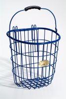 Surfside Rear Wire Pannier Basket w/ Hooks, Royal Blue