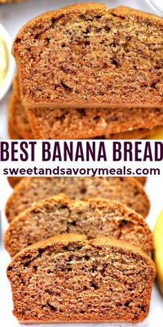 This is the best Banana Bread recipe that is buttery, soft, and super delicious. #bananabread #bread #sweetandsavorymeals Savory Bread Recipe, Best Bread Recipe, Easy Bread Recipes, Biscuit Recipe, Best Breakfast Recipes, Best Dessert Recipes, Fun Desserts, Delicious Desserts, Yummy Food