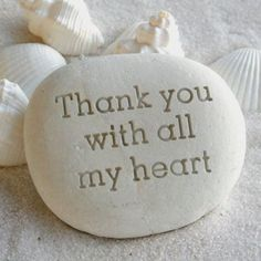 Message stone Custom text engraved on beach stone by sjengraving, $26.00 Thank You Qoutes, Thank You Quotes For Birthday, Thank You Messages Gratitude, Thank You Wishes, Thank You Greetings, Gratitude Quotes, Happy Birthday Wishes, Thank You Gifts, Birthday Quotes