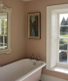 Farrow and ball setting plaster. Diy Bathroom Decor, Bathroom Colors, Small Bathroom, Family Bathroom, Bathroom Ideas, Pink Bathrooms, Bathroom Faucets, Bathroom Interior, Master Bathroom