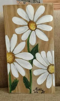 Acrylic Painting Flowers, Tole Painting, Acrylic Painting Canvas, Painting On Wood, Canvas Painting Projects, Diy Canvas, Art Projects, Canvas Art, Wood Pallet Art
