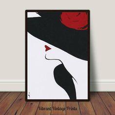 Vintage Fashion Poster Minimalist Fashion Art Print