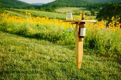 Portable Wine Table by WmWalkerCo on Etsy