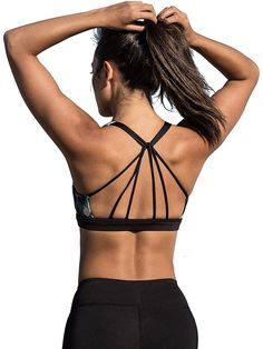 icyzone Padded Strappy Sports Bra Yoga Tops Activewear Workout Clothes for Women - Original And Safe Easy Ab Workout, Easy Workouts, Workout Gear, Bustiers, Yoga Bra, Womens Workout Outfits, Yoga Tops, Best Weight Loss, Workout Leggings