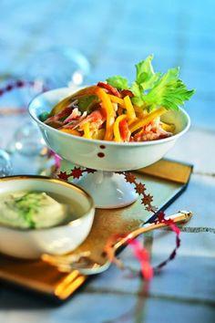 Salade des îles au crabe royal - recette clic photo