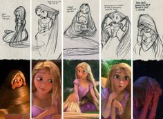 "findingcorona: "" Glen Keane's Rapunzel hair tutorial concept art and film realization. Disney Tangled, Disney Magic, Disney Art, Glen Keane, Disney Sketches, Disney Drawings, Art Drawings, Disney Style, Disney Love"