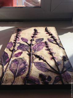 Купить Базилик. - тёмно-фиолетовый, декор интерьера, стильный подарок, базилик, травы прованса
