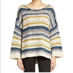 NWT: Free People Knit Pullover Brand new with tags. Never worn. Free People Sweaters