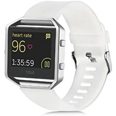 Fitbit Blaze band,Huamecl Classic Soft Silicone Sport Bands Strap Replacement for Fitbit Blaze (Not included Metal Frame)-White >>> More info could be found at the image url. (This is an affiliate link) #WellnessRelaxation