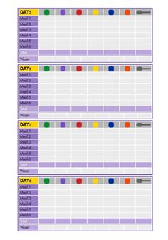 21 Day Fix Meal Log and Tally Sheet - FREE Download ...