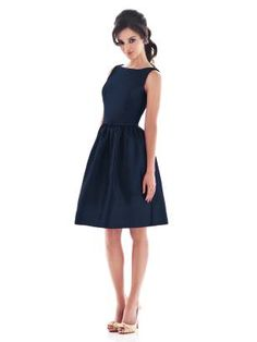 this in silver and/or navy may be one of the styles for bridesmaids. can see some cute accessories and shoes with this one