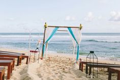 Simple beach wedding decor