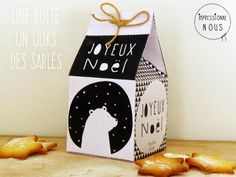 Free printable boîte Noël