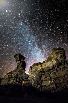 Meteor Shower in Iceland. By - Oli Haukur Myrdal