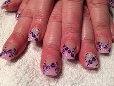 Nailart and pink tips