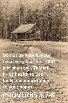 """Proverbs """"Do not be wise in your own eyes; fear the Lord and shun evil. This will bring health to your body and nourishment to your bones. Bible Verses Quotes, Bible Scriptures, Wisdom Quotes, God's Wisdom, Book Of Proverbs, Proverbs 3, Fear Of The Lord, Faith In God, Words Of Encouragement"""