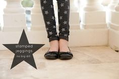 EMBELLISH IT! diy stamped jeggings || Katy from No BigDill for it'salwaysautumn