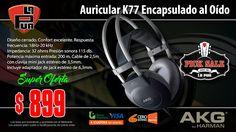 La Púa San Miguel: PICK SALE - Auricular AKG K77 Encapsulado al Oído