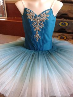 Turquoise and gold tutu by Margaret Shore