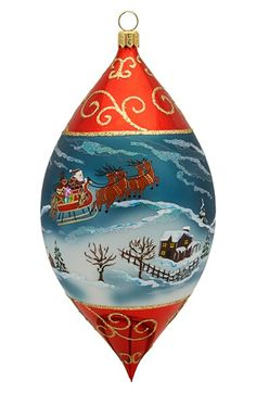Joy to the World Collectibles Winter Scene Drop Ornament available at #Nordstrom