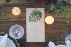 Menu Tropical Chic para um casamento em Trancoso, BA.  -  Tropical Wedding menu for a reception in Trancoso, Bahia - Brazil  Fotografia: duoborgatto