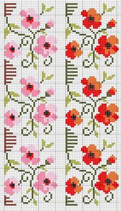 Flowers cross stitch.