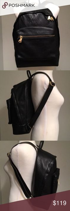 NWT Aimee Kestenberg Blck Genuine leather Backpack New With Tag** AIMEE KESTENBERG** brand*** Park Slope Genuine Pebbled Leather Backpack Retails at $298.00, gold tone hardware, Main double zipper, front single zip, outer hidden deep pocked with magnetic closure, inner zip and open compartments   NEW, NEVER USED! clean smoke and pet free home Aimee Kestenberg Bags Backpacks