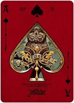 Ace of Spades - REQUIEM PLAYING CARDS DECK by Lorenzo Gaggiotti