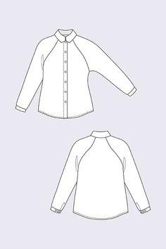 Named Stella Raglan Shirt & Shirt Dress (Intermediate) Blouse Patterns, Sewing Patterns, Named Clothing, Dress Name, Dress Making Patterns, Sewing Blogs, Raglan Shirts, Feminine Dress, Shirt Dress