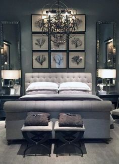 The small master bedroom design is something that numerous individuals consider. It is on the grounds that they need to have the best impression from their master bedroom. One style that a consider… Small Master Bedroom, Gray Bedroom, Master Bedroom Design, Home Decor Bedroom, Bedroom Furniture, Bedroom Designs, Master Bedrooms, Furniture Ideas, Bedroom Apartment