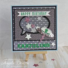 A quirky So Chic shaker card with a fun alien die addition