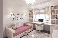 Teen Girl Bedrooms demo - An exceptional take on teen room decor inspirations and examples. For extra exceptional decor explanation simply jump to the image link right now Bedroom Ideas For Teen Girls, Girl Bedroom Designs, Girls Bedroom, Girl Nursery, Kids Room Bed, Kid Rooms, Baby Room, Kids Room Design, Little Girl Rooms