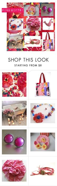 """""""Pink Gifts Found on ETSY!"""" by fivefoot1designs ❤ liked on Polyvore featuring Marmont Hill, etsy, etsygifts, polyvoreshopping and ETSYShopping"""