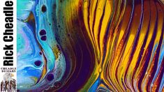 393. Abstract Art Acrylic Painting with Paint Pouring Fluid art - YouTube