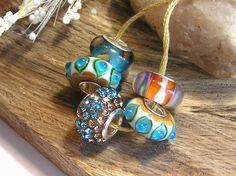 Southwest European Large Hole Glass Beads by NanjoJewelrySupplies, $9.99