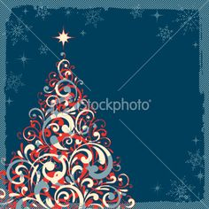 retro christmas tree. istockphoto 15 credits