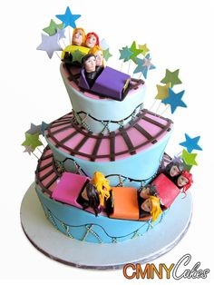 Roller Coaster Decorations, Roller Coaster Party, Roller Coasters, Park Birthday, Birthday Cake, Birthday Ideas, Circus Cakes, Adult Party Themes, Carnival Birthday Parties