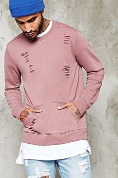 Distressed Pocket Sweatshirt | 21 MEN - 2000235423