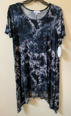 Go Couture Girl/'s 3//4 Sleeve Tie Dye Crew Neck Tee HD3 Pink Size 12