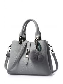 Checked Design Tote Bag For Women in Grey. Hourglass Gal · Bags and Purses faeb8d771c