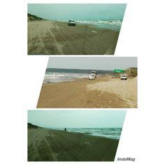 「仕事で能登へ行き、帰りに千里浜なぎさドライブウェイへ行きました。  ここは読んだそのまま 日本海の波打ち際を走れるんです が、狭さにビックリ 昔は4車線の道幅ぐらいあったのに… 温暖化をしみじみと感じました #東亜和裁#千里浜なぎさドライブウェイ#温暖化」