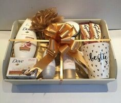 Bestie China Mug. The Hamper is Cello Wrapped Complete with Bow and Curl Ribbon. We are more than happy to send the gift directly to the recipient. Birthday Presents For Mom, Birthday Gift Baskets, Birthday Gifts, Birthday Present Ideas For Women, Wicker Hamper Basket, Hamper Boxes, Hamper Ideas, Diy Gifts For Friends, Bff Gifts